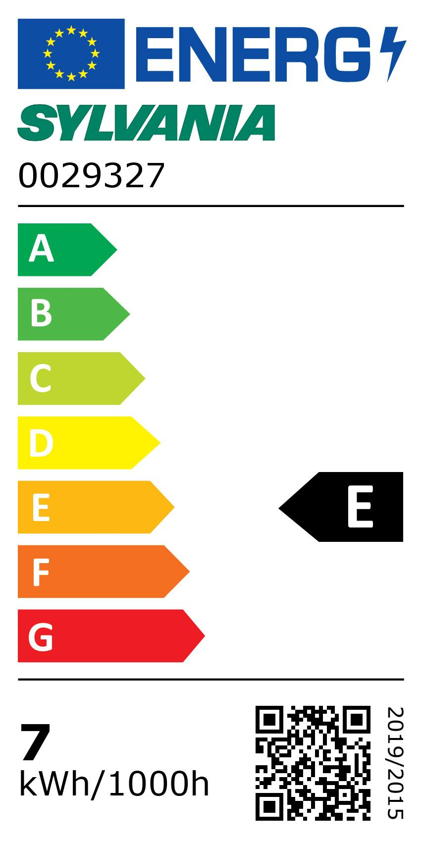 Energy Label for 0029327