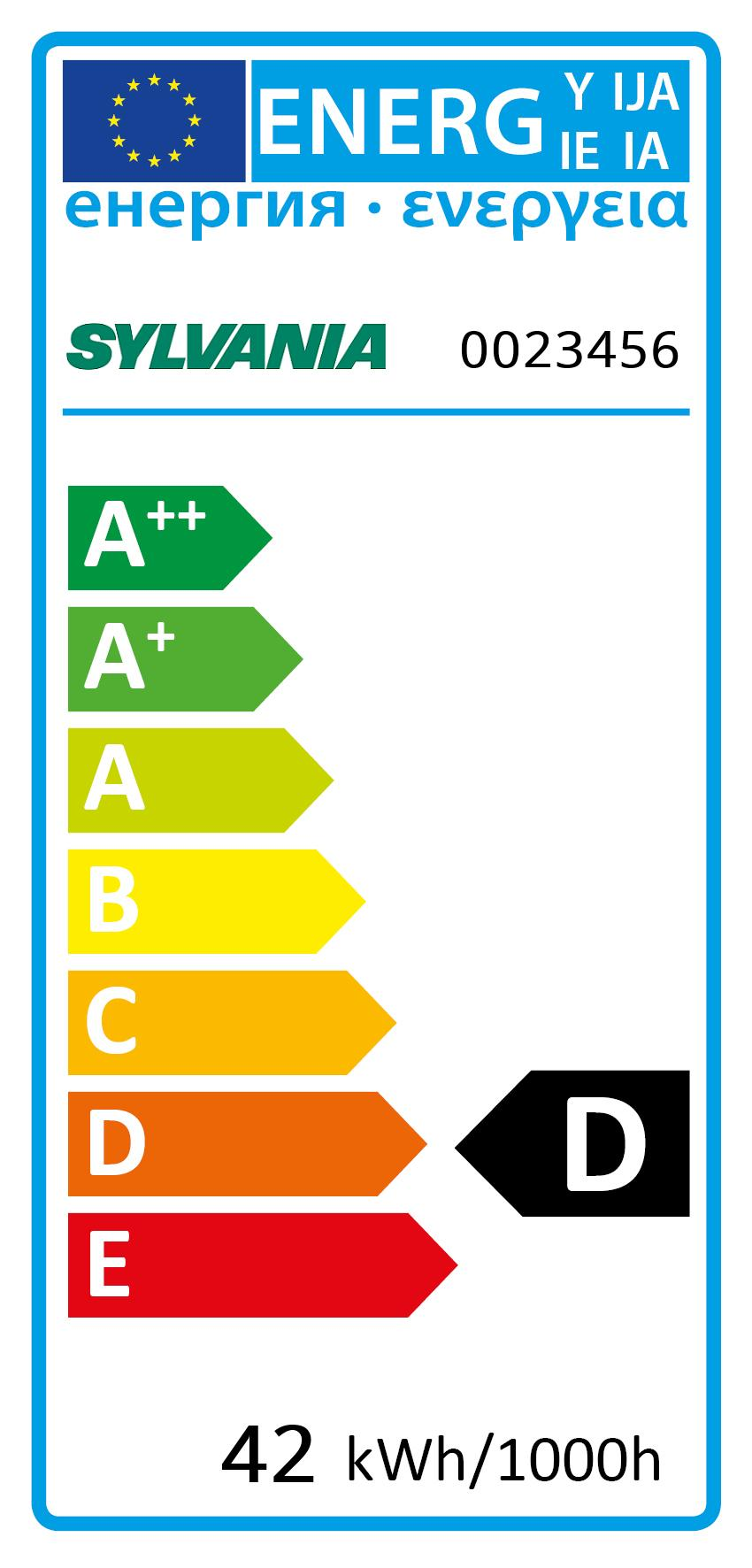 Energy Label for 0023456