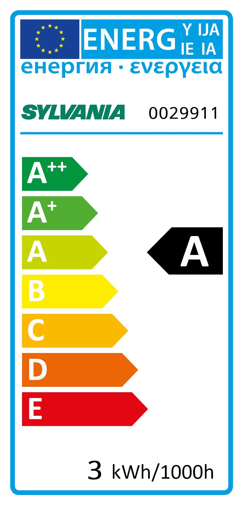 Energy Label for 0029911
